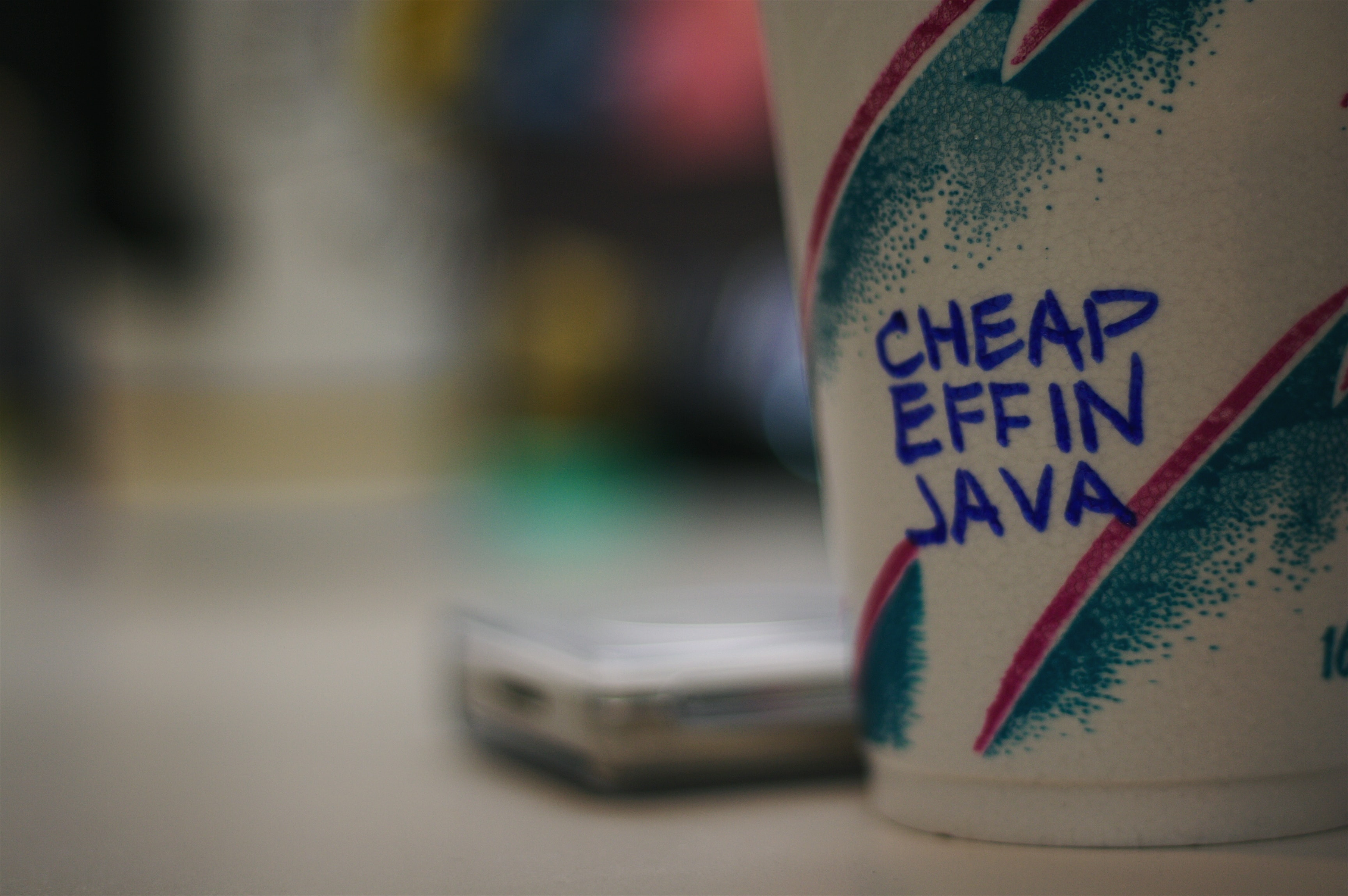 cheap elfin java coffee cup