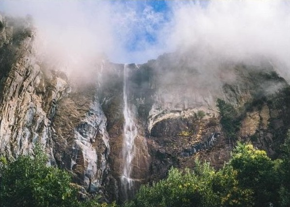 lovedeathtravel instagram account waterfall