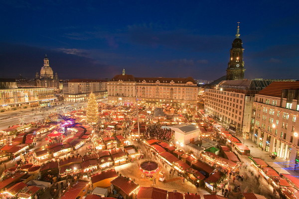 Dresden view xmas markets